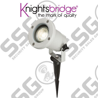 Knightsbridge 230V 5W LED Outdoor Garden Spike Light Fitting Stainless Steel