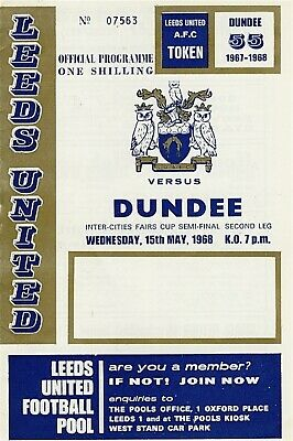 FAIRS CUP SEMI FINAL 1968 Leeds United v Dundee