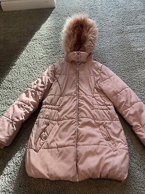 Girls Pink Winter Coat Tu Sainsburys 9-10 Years