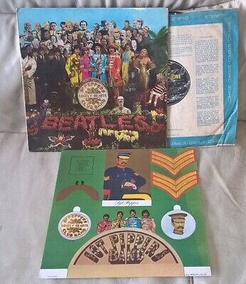 The Beatles Sgt Peppers Lonely Hearts Vinyl LP 1967 MONO PMC7027 Cutouts Album