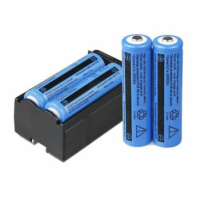 4X UltraFire 18650 9900mAh Battery 3.7v Li-ion Rechargeable Batteries+Charger.UK