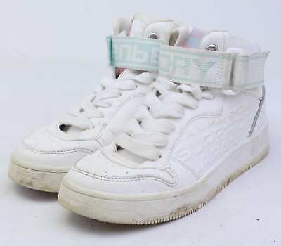 Superdry Womens UK Size 3 White Leather High Tops