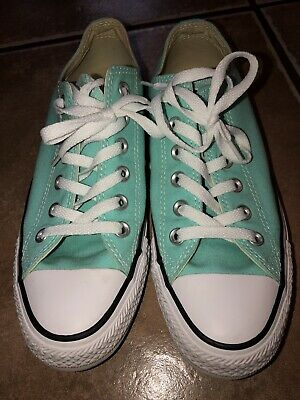 Women's Turquoise CONVERSE shoes - Size 8 All Star Chuck Taylor EUC