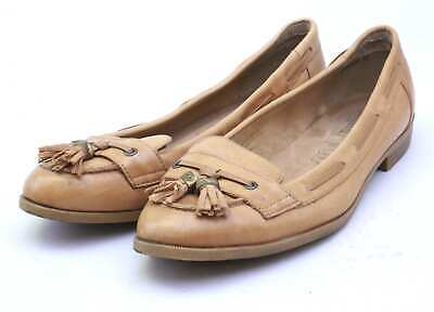 New Look Womens UK Size 6 Brown Leather Loafer Style Shoes