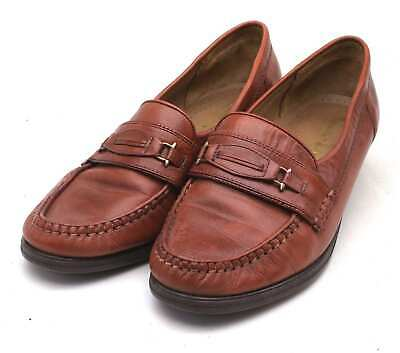 Van Dal Womens UK Size 6.5 Brown Leather Loafer Style Shoes