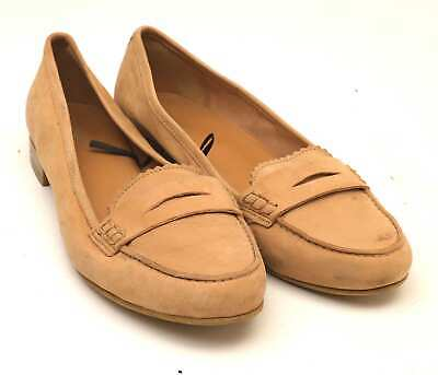 Preworn Womens UK Size 5 Brown Leather Loafer Style Shoes