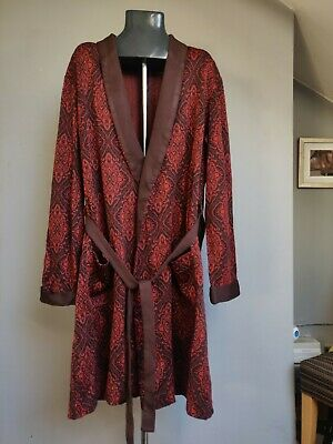 St. Michael Grand Smoking Jacket /Robe Dressing Gown - L/XL 44-46 Pure 70s M&S