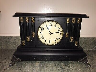 Antique Gilbert 8 Day Mantle Clock In Running Condition ~Early 1900 ~