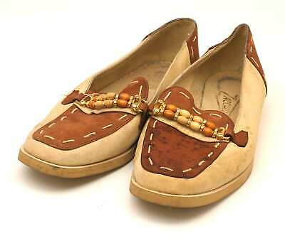 Zaccho Womens EU Size 37 Brown Leather Loafer Style Shoes