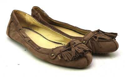 Giorgio Picino Womens EU Size 41 Brown Leather Loafer Style Frill Shoes