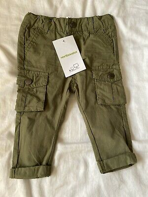 Baby Boy Dark Green Cargo Style Trousers in Cotton by Vertbaudet 6 Months 67 cm