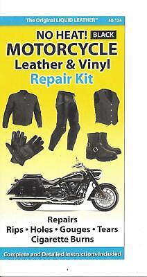 All Black Leather Repair Holes Burns Gouges Kit No Heat  Seats Jackets Clothing