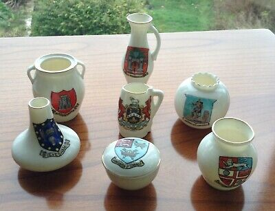 Collection of Crested / Armorial China,  1 Shelley China & 6 W H Goss.