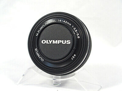 Olympus M.Zuiko 14-42mm EZ Power Zoom Lens - Black - Excellent! + New Lens Case
