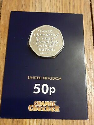 2020 BREXIT 50p COIN  Uncirculated  Placed In a Sealed  Collectors Card