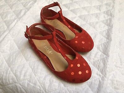 Next Party Shoes Red T-bar Size 9 Girls