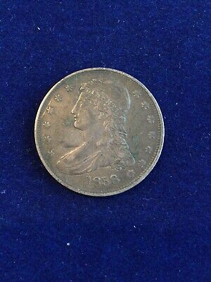 1838 Capped Bust Silver Half Dollar 50 Cents US Coin *527