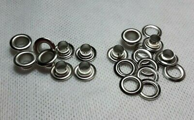"""110 PCS #0 1/4"""" Grommet & Washers For Hand Press Tool, Sign Flag Nickel Eyelets"""