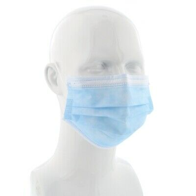 Disposable 10 x Loop Surgical Virus Flu Face Medical Spray Mask Mouth Protector