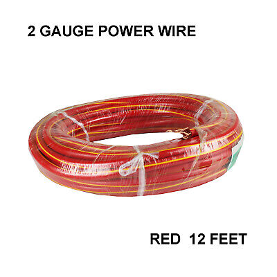 R2X18-1000 Blastking Clear//Red 18AWG CCA Car Audio Speaker Cable Wire 1000 ft