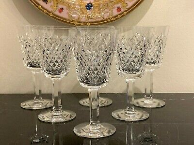 Waterford Crystal Alana White Wine Glasses Set of 6