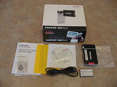 Toshiba Camileo S20 Camera Camcorder With Accessories - New in Box