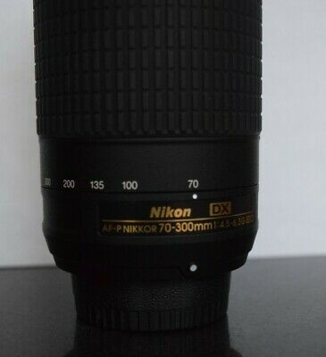 Excellent Nikon AF-P DX NIKKOR 70-300mm F/4.5-6.3 G ED Lens With Box D3300 D3400