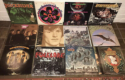 Lot of 12 1960's-1970'S ROCK RECORD LOT~IRON BUTTERFLY STEPPENWOLF QUICKSILVER