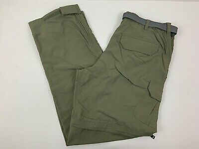 WHITE SIERRA Olive Green Convertible Zip-off Cargo Pants Shorts Womens Size M