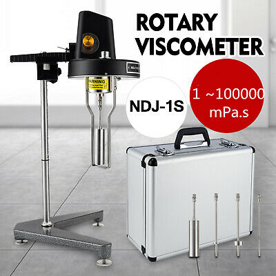 Rotational Rotary Viscometer Viscosity Test Tester with 4x Rotors NDJ-1 220V