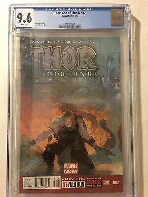 Thor God of Thunder #2 CGC 9.6 White Pages 2085840014 1st Necrosword & Gorr