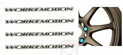4 Pcs Work Emotion Xt7 Xd9 Xt-7 Xd-9 Wheels Rim Decal Sticker Vinyl