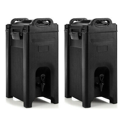 2 Pack Insulated Beverage Server/Dispenser 5 Gallon Hot & Cold Drinks w/ Handles