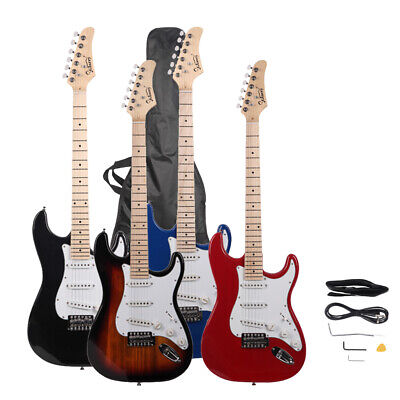 "New 39"" 4 Colors 6 Strings Right Handed 22 Frets Electric Guitar W/ Bag"