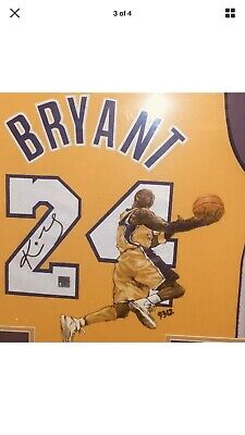 KOBE BRYANT SIGNED AUTOGRAPH AUTHENTIC JERSEY FRAMED & Hand Painted! 1 Of A Kind