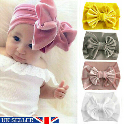 Baby Rabbit Headband Turban Elastic Bowknot Hair Band Girls Bow-knot Newborn Bow
