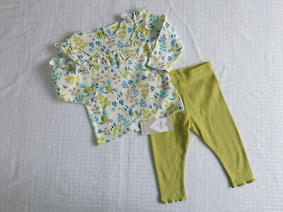 M&S Cute Long Sleeved Baby Girl's 2 piece Outfit 6 - 9 months...BNWT