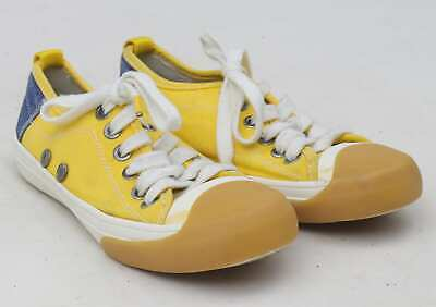 Zara Girls EU Size 32 Yellow Denim Trainers