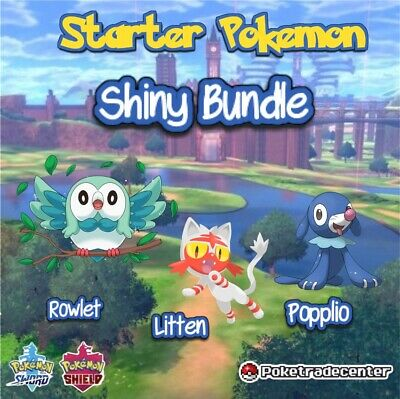Pokemon Sword And Shield Shiny Starter Pokemon 6Ivs 0Evs Pokerus Level 1