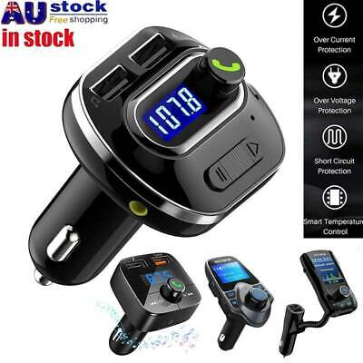 Car FM Transmitter Wireless Bluetooth 4.1 LCD USB Charger MP3 Handsfree Kit AUX