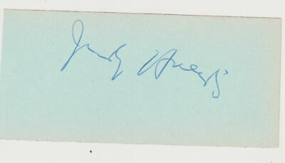 Jerry Orbach ( We Think) vintage signed page UACC RD retirement sale