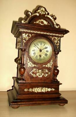 ANTIQUE LENZKIRCH GERMAN   Mantle Clock 1870c