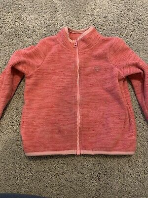 Girls Pink Fleece Zip Jacket Top Tu Sainsburys 3 Years