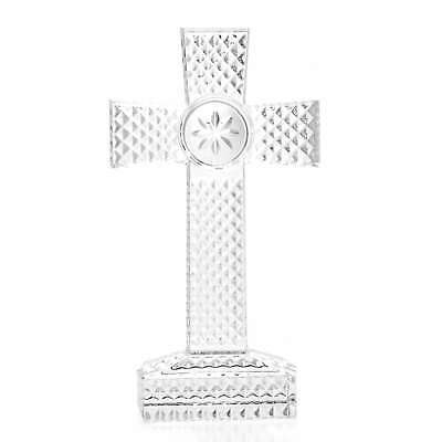 """Waterford Crystal 9"""" Diamond Cut Hand-Finished Cross"""