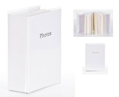 6'' x 4'' Slipin Photo Album Holds 120 Photos Photography Storage - WHITE