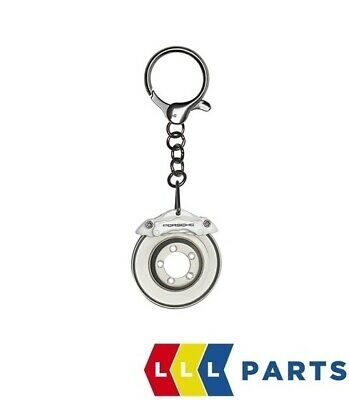 New Genuine Porsche White Brake Brake Caliper & Disc Keyring Wap0303050L