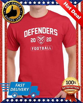 NEW DC Defenders XFL² 2020 Mens Short Sleeve T-Shirt Black Cotton S-4XL