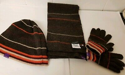 Kids Ted Baker 100% wool - Hat, scarf & gloves set - NEW WITHOUT TAGS