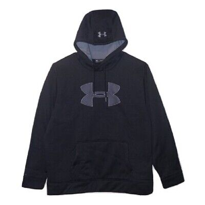 NWT Under Armour Mens Storm Caliber Big Logo Hoodie 1299749 Black Medium M $55