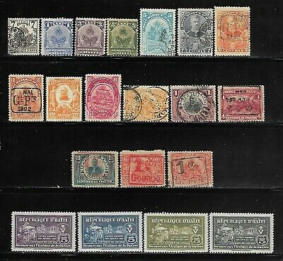 Haiti - 20 Different Earlier Issues